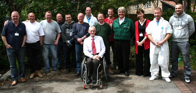 Jaguar Land Rover staff help out