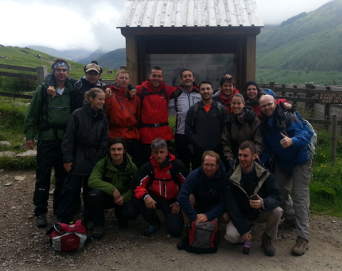 People taking part in the 3 Peaks to raise funds for Greenbank