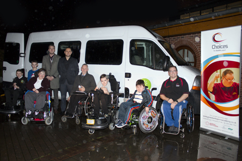 Choices participants with the ERS Medical minibus