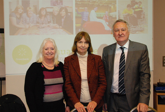 Chairman Alan Irving, Vice-Chairman Sandra Hulm and Lady Angela Morgan at the AGM 2015