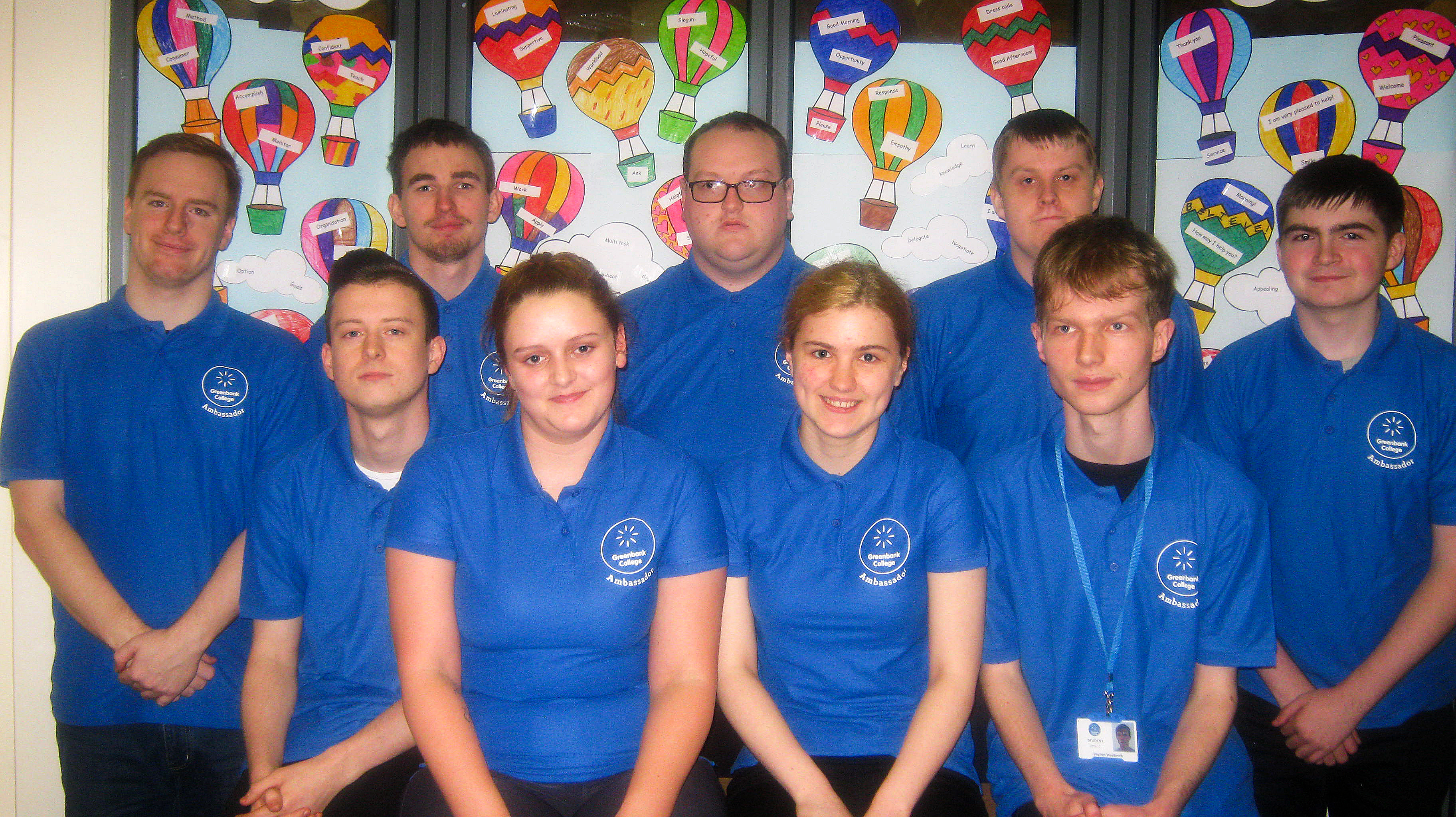 Greenbank College Student Ambassadors from the Customer Service department