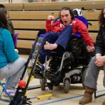 Disabled participant taking part Boccia