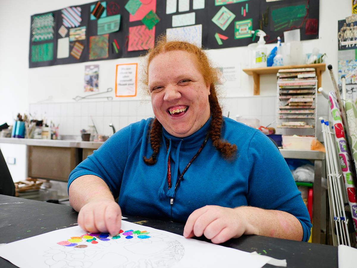 Art and craft student Samantha