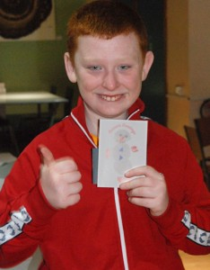 Daniel Morrow with his winning card design