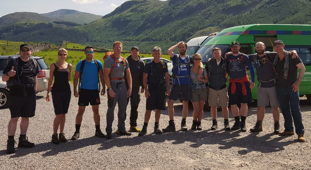 Three peaks challenge greenbank fundraising team