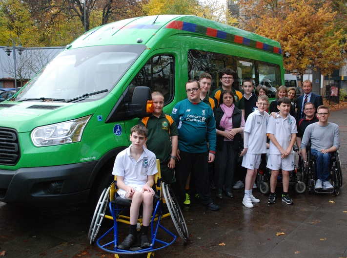 Lord and Lady Taverners representatives present new minibus
