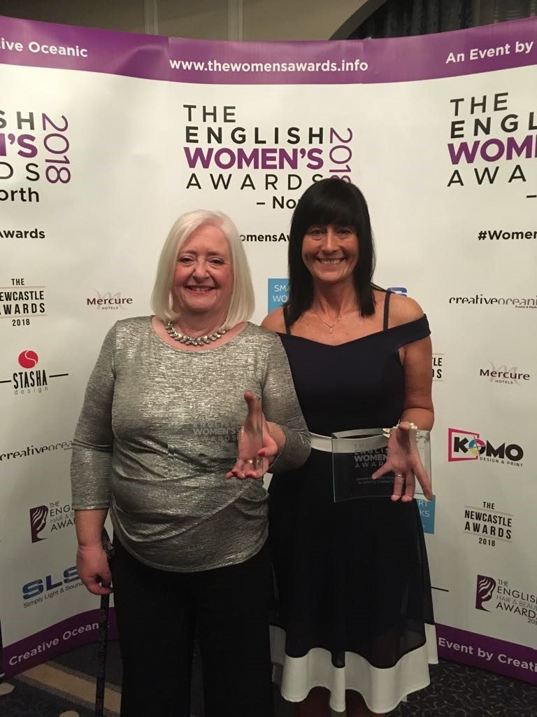 Sandra Hulme and Jean Stephens at English Women's Award North 2018