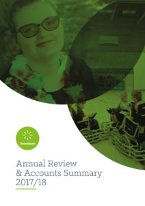 Front cover of the Greenbank Annual Review and Accounts Summary 2017/18